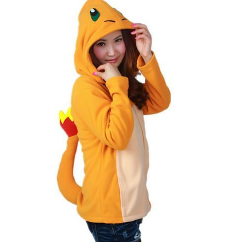 Poke mon Shiny Umbreon Women Men Zip Hoodies with Ears Tails Cosplay Costume Cartoon Coat Outwear Hooded Pika chu Sweatshirt