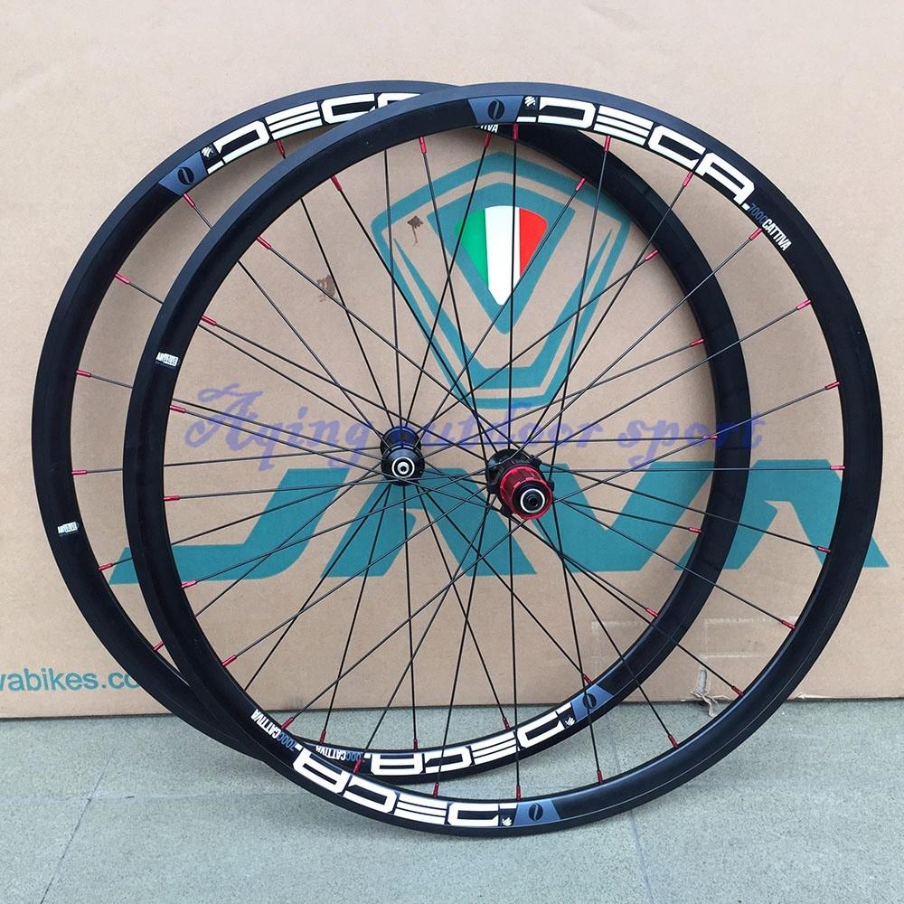 JAVA Alloy 700C Road Bike Wheelset Rim Caliper Brake Bearing Hubs 20/24H 100/130mm Rim Width 30/42mm java deca wheelset 451 20 1 1 8 aluminum rim c brake disc brake for folding minivelo recumbent bike bicycle wheel super quality