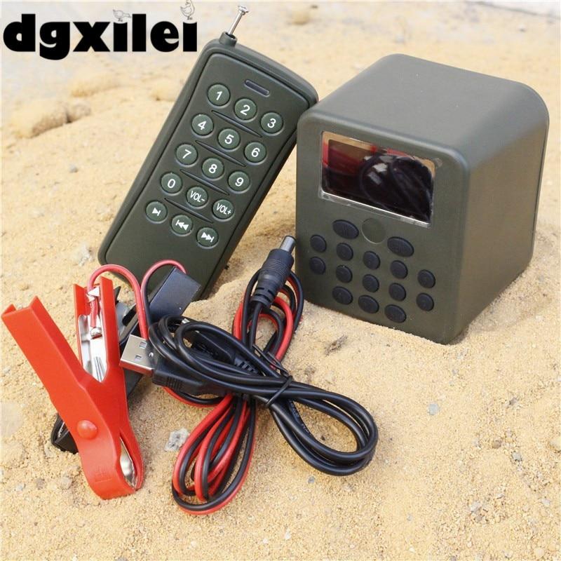 Remote Controller + 1*50w Loud Speaker Device Yard Garden Hunting Duck Goose Decoys Digital Hunting Bird Caller MP3 Player