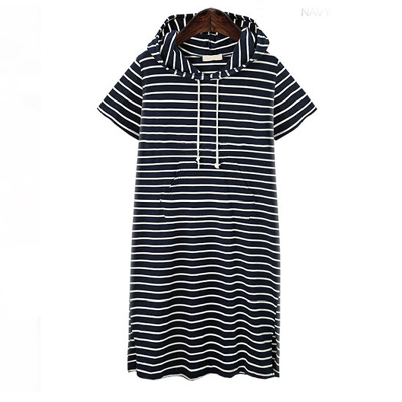 e437a9f9c60e2 ... 2018 New Summer Dress Short Sleeve Clothes For Pregnant Women Plus Size  Loose Striped Maternity Clothing ...