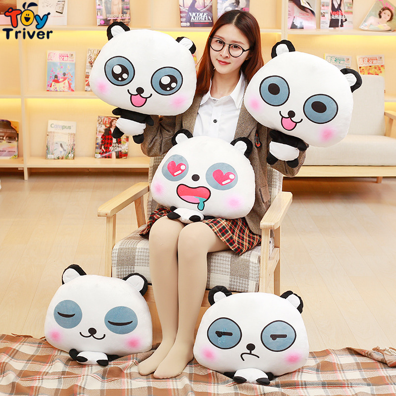 Plush Panda Portable Blanket Stuffed <font><b>Toy</b></font> Doll Baby Shower Car Air Condition Travel Rug Office Nap Carpet Birthday Gift Triver