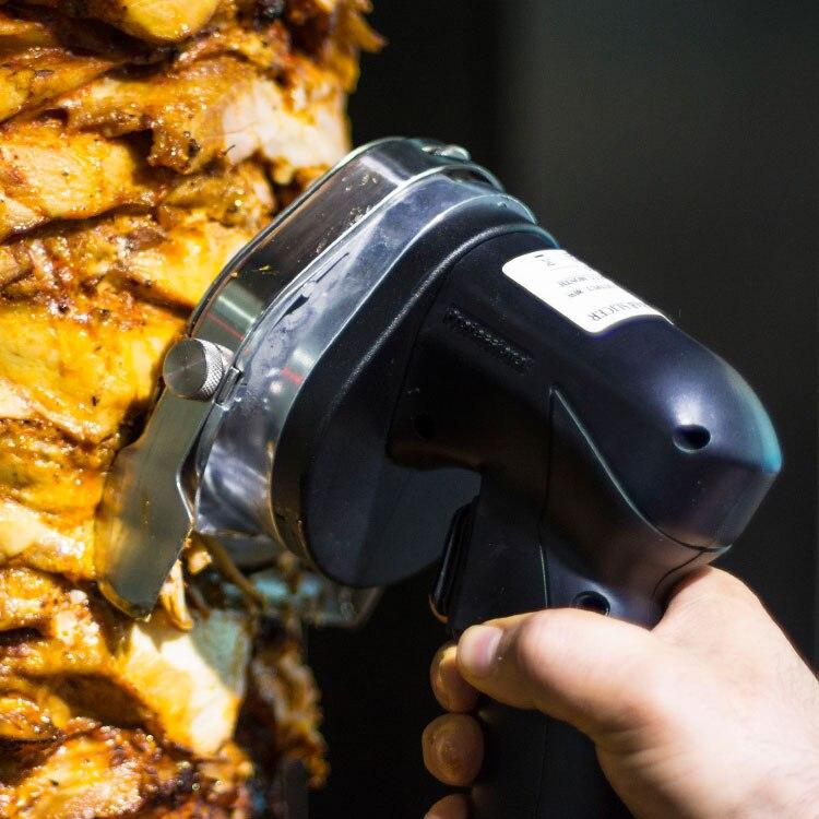 Super Quality Electric Doner Kebab Slicer Shawarma Knife 220VAC / 110VAC Gyros Meat Cleaver For Restaurant