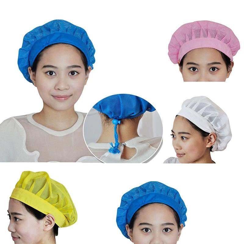 Hot!!! Chef Cooking Hats Breathable Mesh Adjustable Dust Cap Restaurant Uniform Work Wear Kitchen Cap Food Service headpiece