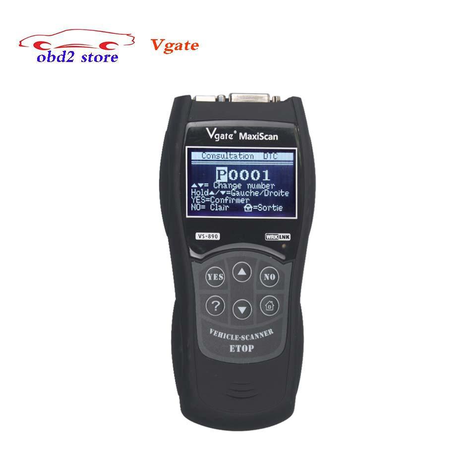 VGATE VS890 OBD2 автомобиля диагностический Интерфейс сканер vgate MaxiScan VS890 OBDII OBD 2 авто код читателя инструмент диагностики