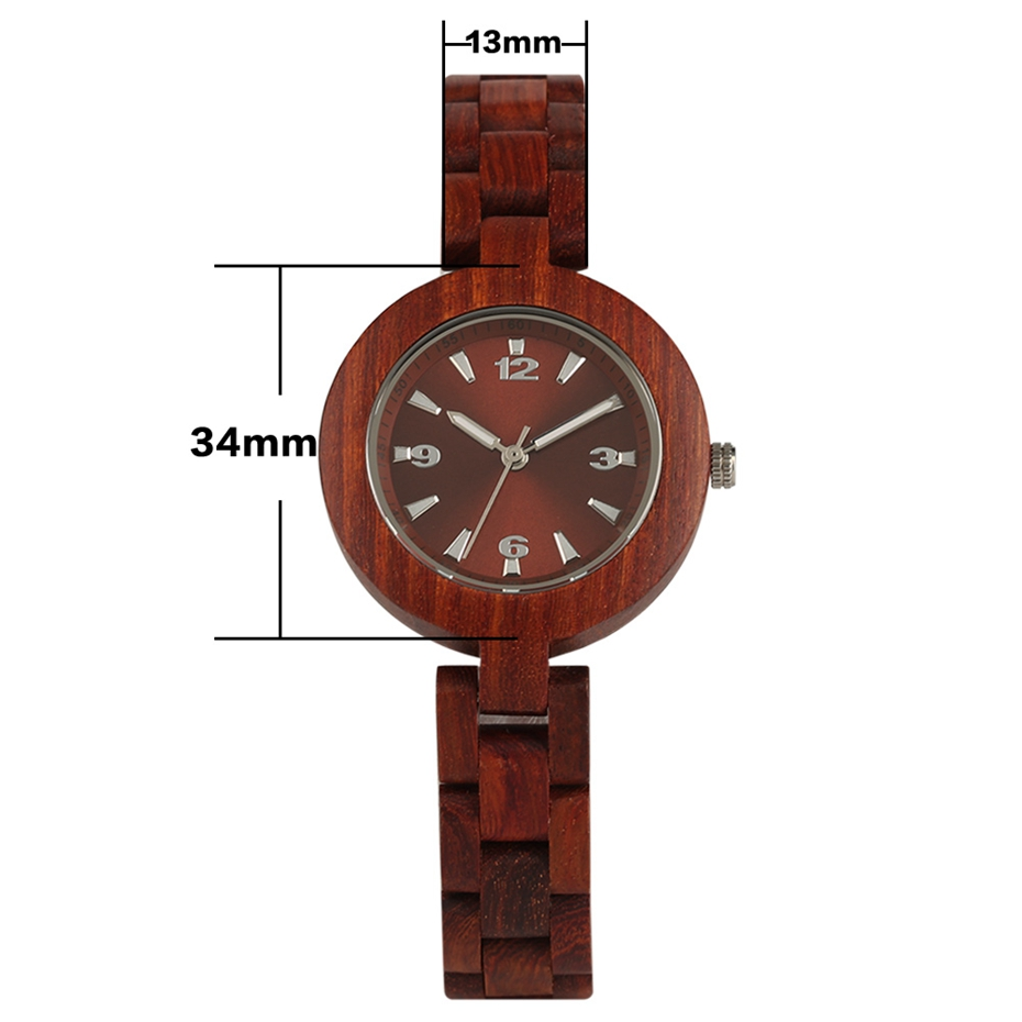 Women's Wood Watches Top Brand Unique Little Cute Dial Quartz Clock Ladies Dress Wooden Bangle Watch Environmentally reloj mujer 2018 2020 2019 (9)