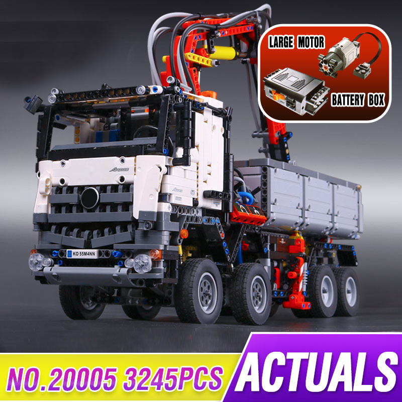 3245Pcs 20005 Technic Series Compatible Legoings 42043 Arocs 3245 Set Car Model Building Block Bricks Boys Toy Car Gift For Kids