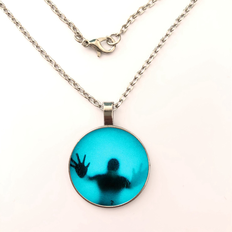 ghost 2019 New Fashion Galaxy Pendant Necklace For Women Men Glass Cabochon accessory gift BO 431 in Pendant Necklaces from Jewelry Accessories