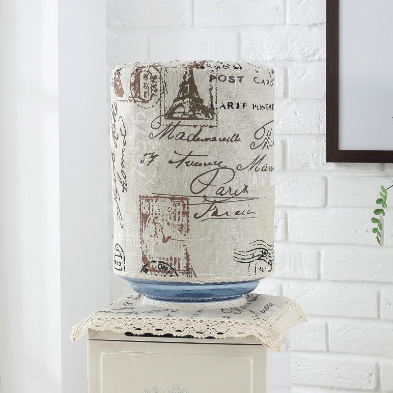 SRYSJS 2 PCS/Set Water Dispenser Covers Drinking Fountain Machine Dust Cotton Linen  Protector Dustproof Buket Cloth