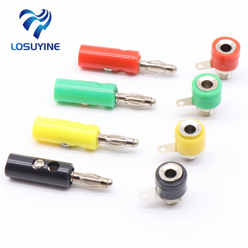 1male and Female J072 4mm Banana Plug Male and Female to Insert Connector Banana Pin DIY Model Parts Free Shipping [vk] 553602 1 50 pin champ latch plug screw connectors