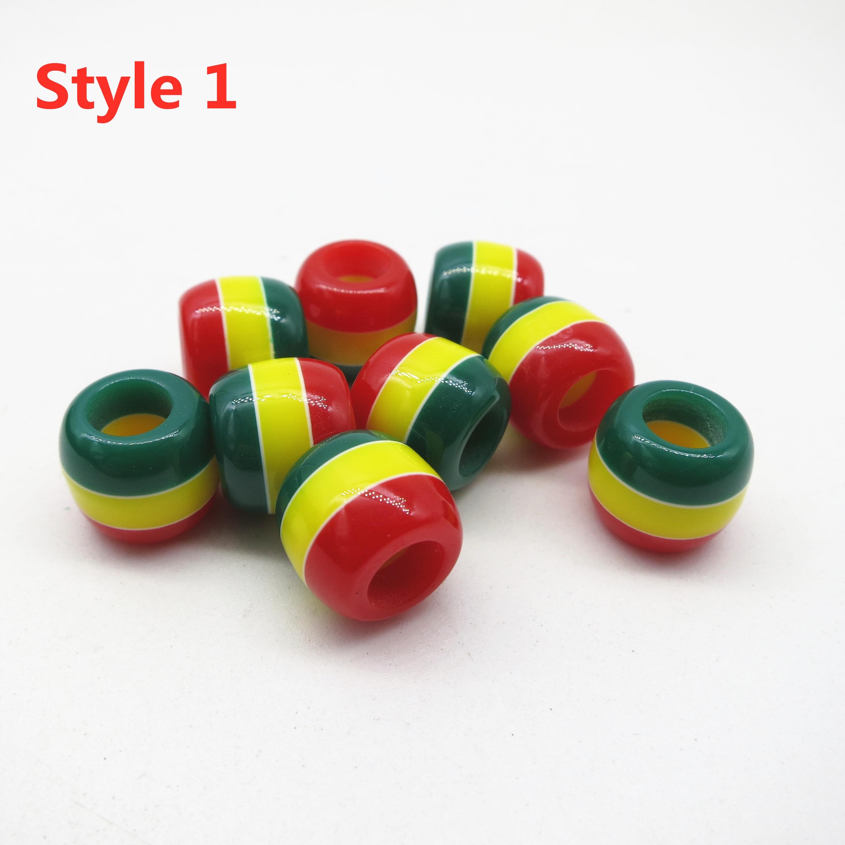 30Pcs-100pcs Crochet Braids Multicoloured different styles Rasta hair braid dread dreadlock Beads rings accessories