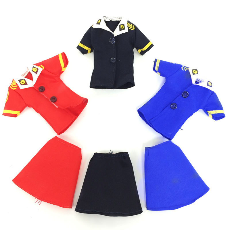 433947e44a6 6 Pcs / 3 set Barbie Clothes High Quality Fashion Handmade Stewardess  Uniform For Barbie Girls House Party Dress Up Toy Gift-in Dolls Accessories  from Toys ...