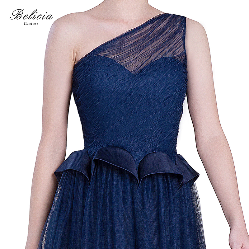 1ec91a895e2 Belicia Couture Navy Blue Cocktail Dresses Design One Shoulder Sexy Short  Homecoming Dress Elegant Fashion Party Prom Gowns-in Cocktail Dresses from  ...