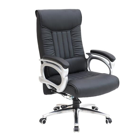 High Quality Office Chair Lifting Rotary Computer Chair Leisure Lying Adjustable Boss Chair Strong Aluminum Alloy Swivel Chair 240312 stereo thicker cushion household office chair high quality pu leather computer chair steel handrails