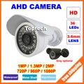 Câmera de CCTV AHD 720 P 960 P 1080 P Câmera de Segurança 1MP 1.3MP 2MP CMOS AHD-M-H Ao Ar Livre Noite IR Visão Vigilância Analógica câmera