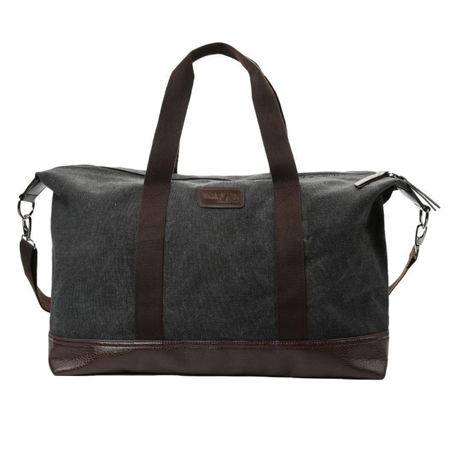 New Men Crossbody Shoulder Bag Casual Canvas Tote Satchel Handbag Messenger, Black