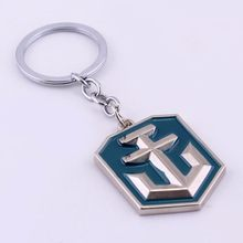 World Of Tanks WOT Jogo Keychain Chave Acessórios Anel Chave Do Carro Titular Trinket(China)