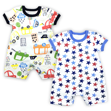 Baby Boys Clothes Romper Babies Coveralls Newborn Toddler Overalls Summer Short Sleeve Infant Girls Clothing цена 2017