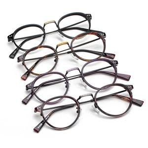 Image 2 - TR90 Glasses Frames Men Retro Small Round Prescription Glasses Women 2019 Vintage Myopia Optical Frames Eyeglasses Eyewear