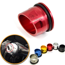 BJMOTO CNC Aluminum Exhaust Tip Cover For Yamaha T max Tmax 530 2012 2015 Motorcycle Parts