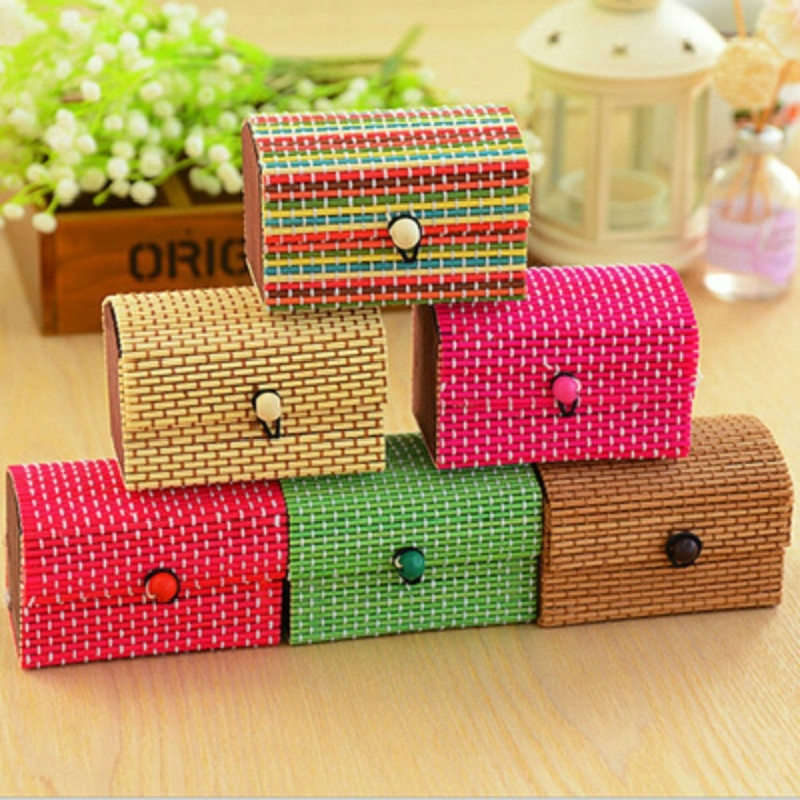 Earrings Storage-Container Jewelry Cosmetic Wooden Fashion Bamboo Necklace Hot-Selling