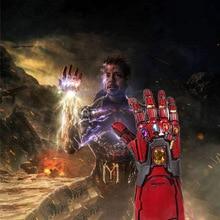 Мстители 4 эндигра танос латексные перчатки со светодиодами Железный человек Бесконечность гаунтлет Косплей фигурки Marvel супергерой вечерние игрушки-реквизиты