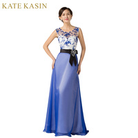 Blue Style Red Carpet Party Clothing Women Cap Sleeve Formal Debut Prom Dresses 2015 See Through
