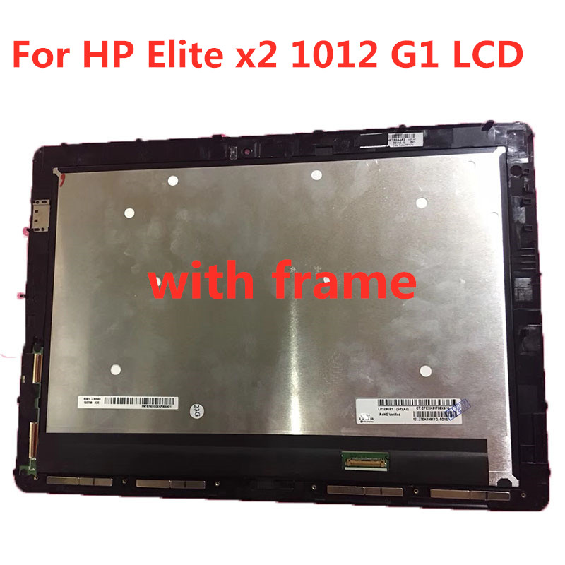 Original with frame For HP Elite x2 1012 G1 LCD DISPLAY SCREEN TOUCH GLASS DIGITIZER ASSEMBLY LP120UP1-SPA5