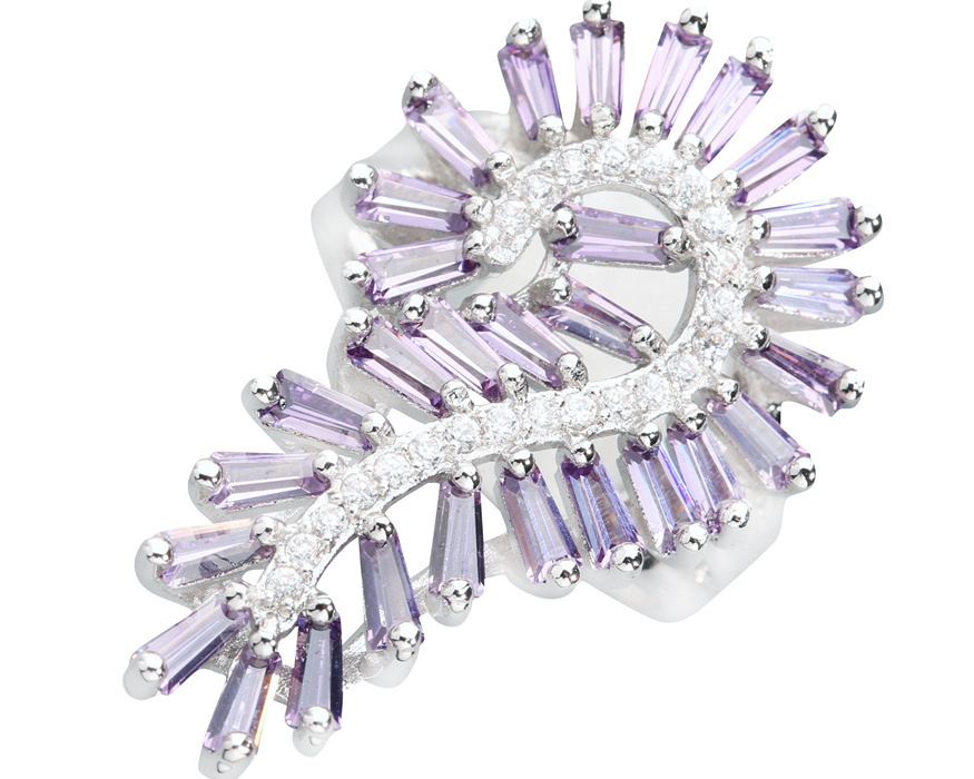 7d7ea7749b15 Espléndida piedra púrpura 2 4mm piedra semipreciosa de plata fresca para  las mujeres anillo Q1539