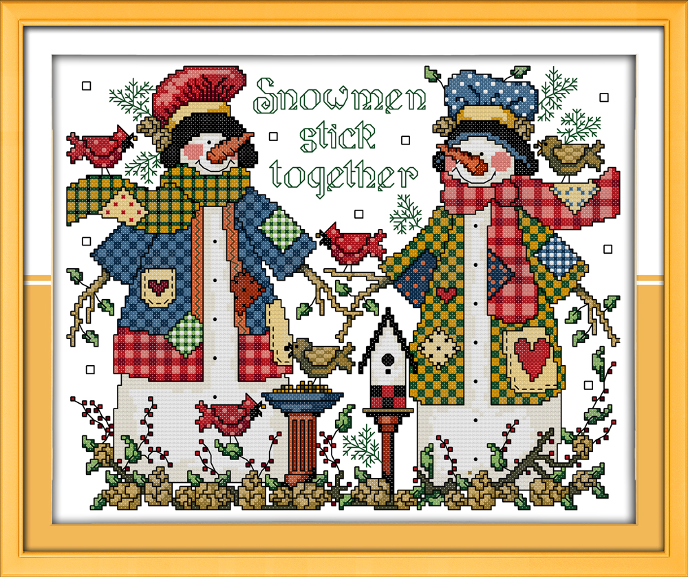 Cross Stitch Needlepoint Kits Embroidery Printed Patterns Fabric Christmas...