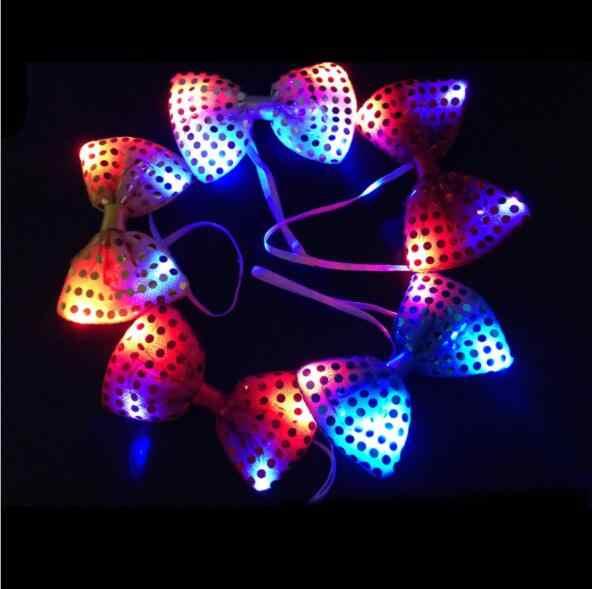 Мужской женский мигающий светящийся галстук-бабочка светодиодные фонари для вечеринки блестки галстук-бабочка светящиеся игрушки YH1492