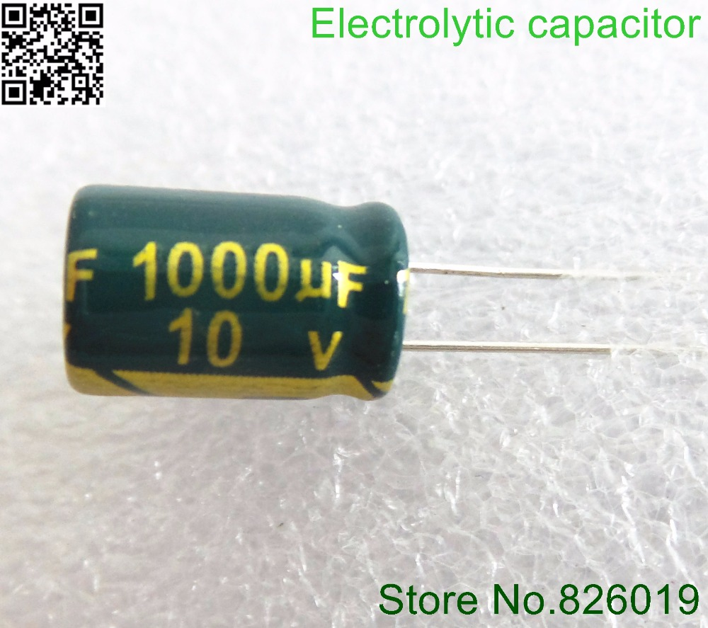 10v 1000uf 8 12 High Frequency Impedance Aluminum Electrolytic Capacitor 10v-in