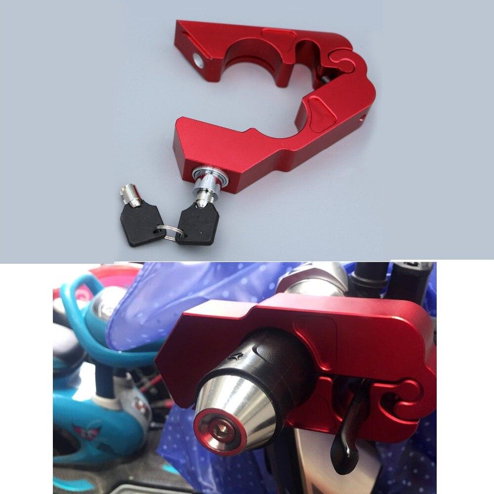 CNC Handle Grip Security Safety Locks Motorcycle Brake Clutch Levers Locks For Kawasaki Honda Yamaha Suzuki Benelli KTM