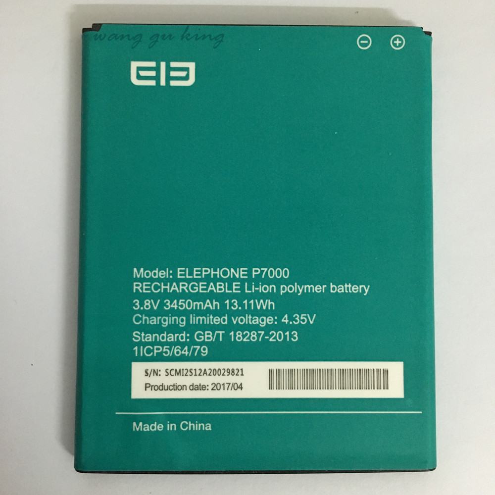 High Quality New Battery Elephone P7000 3450Mah elephant P7000 battery accessories 3.8V Li-ion Mobile Phone Batteries