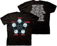 Star Trek Big Bang Theory Rock Paper Scissors Lizard Spock Men Women T Shirt Homme Sheldon