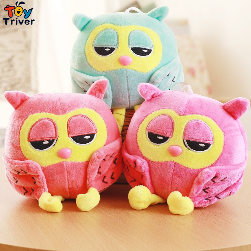 20cm Plush Cartoon Red Blue Owl Toy Pendant Stuffed Dolls Baby Kids Children Kawaii Gift Toys Home Shop Decoration Triver cartoon movie teddy bear ted plush toys soft stuffed animal dolls classic toy 45cm 18 kids gift