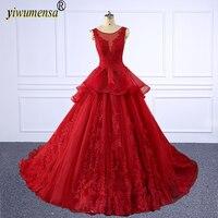 A182 Brand vestidos quinceanera Red vestidos de 15 anos ball gown quinceanera dresses Custom made vestidos de quince anos 2018