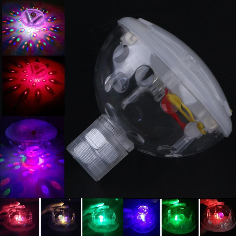 Водонепроницаемый Батарея Мощность красочные сменные подводный светодиодный плавающий Освещение show для Бассейны дискотека украшения