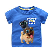 Children 3D Cartoon Puppy Dog Pals Print Clothes For Kids Funny T-shirt Boy Short Sleeve Tee Tops Clothing Baby Tshirt