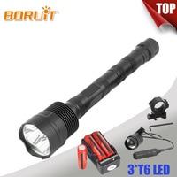 BORUIT Lantern XML T6 Linterna LED Flashlight 5 Mode Hand Torch Waterproof Lamp Remote Switch For Fishing Camping Hunting 6000LM