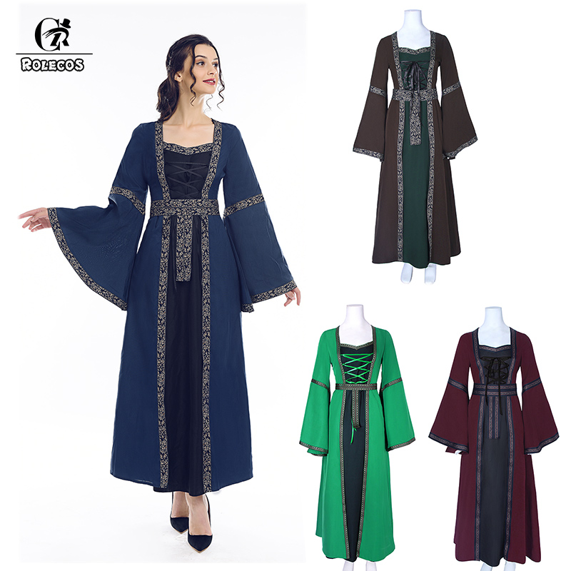 ROLECOS Victorian <font><b>Dress</b></font> Women <font><b>Lolita</b></font> <font><b>Dress</b></font> Long Renaissance Medieval Party Retro Costume Gothic <font><b>Lolita</b></font> Vintage <font><b>Dress</b></font> for Women image