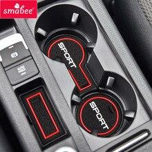 smabee Gate slot pad For Volkswagen GOLF 7 GTI R MK VII 2013-2016  Interior Accessories Door Groove Mat 9pcs