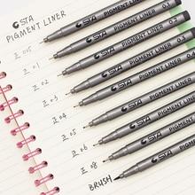 1-Piece Pigment Liner Pigma Micron Ink Marker Pen 0.05 0.1 0.2 0.3 0.4 0.5 0.6 0.8 Different Tip Black Fineliner Sketching Pen
