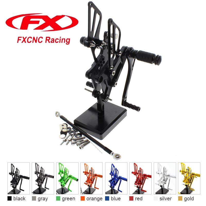 FX CNC Aluminum Adjustable Motorcycle Rearsets Rear Set Foot Pegs Pedal Footrest For HONDA VFR400 NC30 RVF400 NC35 Motorcycles спасская м серьга удачи знаменитого сыщика видока