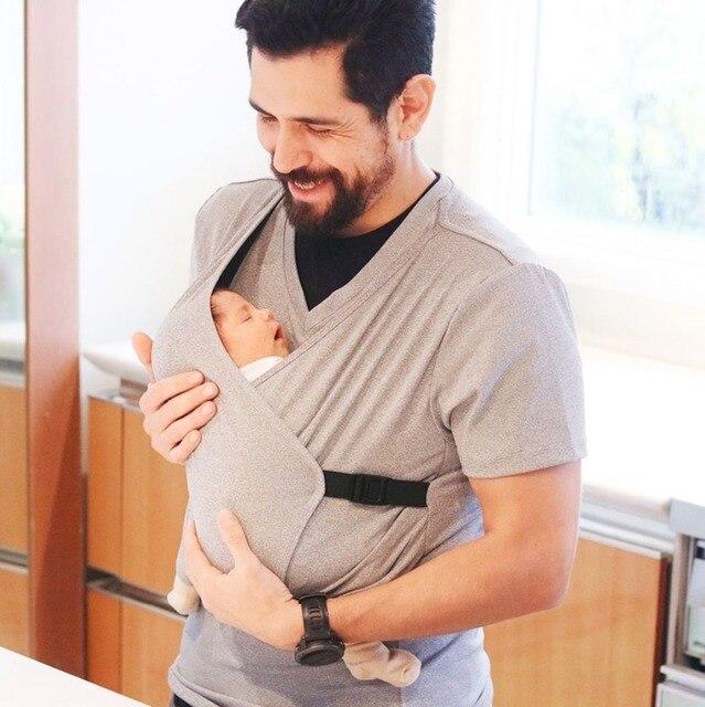 Multifunctional Baby Carrier T Shirt Skin To Skin Mom Baby Kangaroo Tank Tops Men's Dad Shirt Carrier