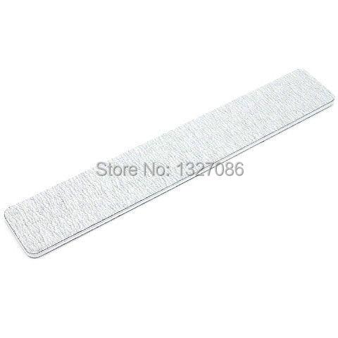 50Pcs NAIL FILES 100/180 Grey Square Nail Art Sanding Paper Buffer ...