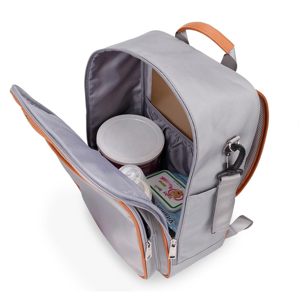 Przenośna torba na pieluchy Mumia Torba na pieluchy dla niemowląt - Pieluchy i Trenowanie toalety - Zdjęcie 5