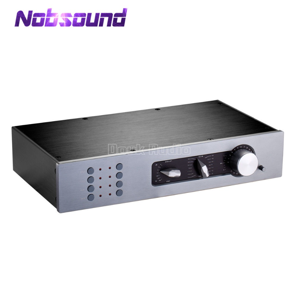 Nobsound High-End Classic Preamp Stereo Preamplifier HiFi Pre-Amp Audio Inspired by QUAD34 1pcs high quality little bear p5 stereo vacuum tube preamplifier audio hifi buffer pre amp diy new