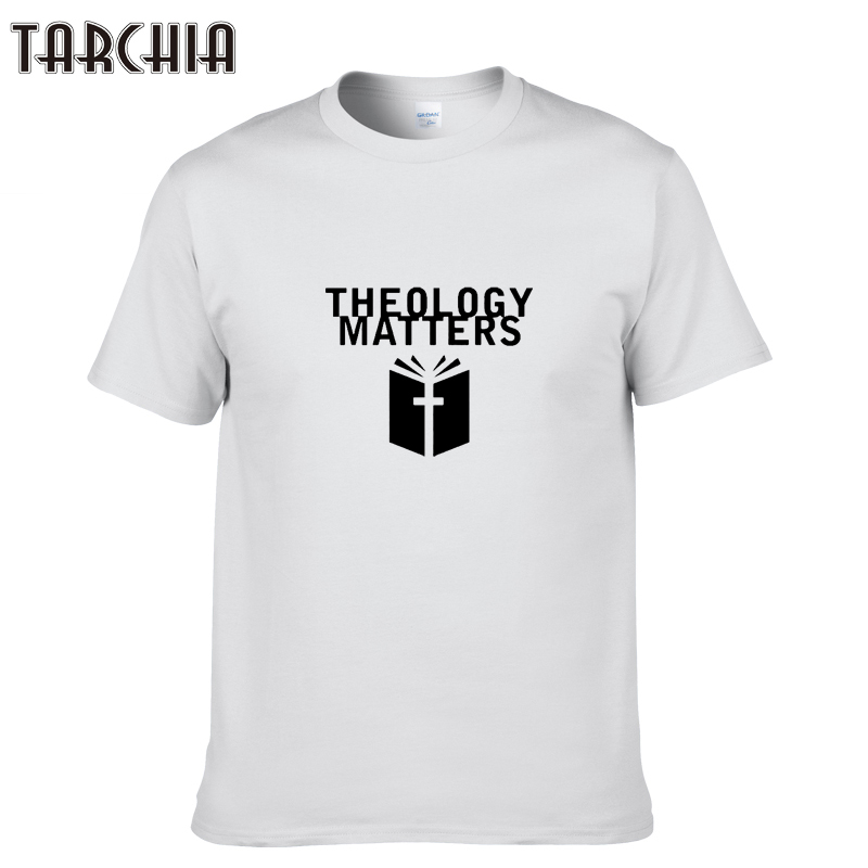 TARCHIA 2018 Summer New Slim Men's Cotton Short Sleeve T-shirt Top Quality Men O-Neck Letter Printed T Shirt Clothing Tops