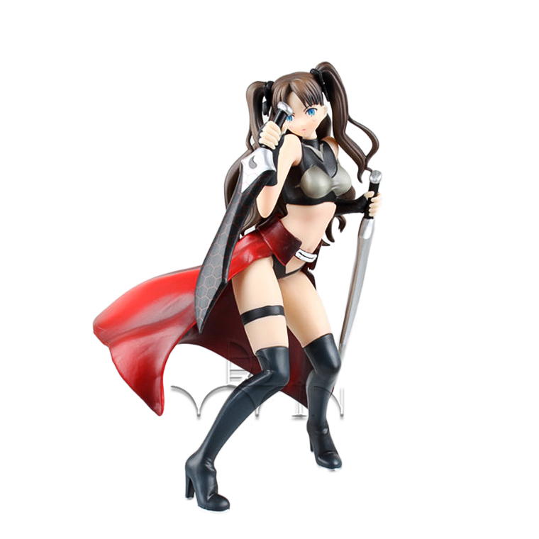 20cm Japanese sexy Cartoon Anime Aniplex Fate/stay night Tohsaka Rin Archer Ver. PVC Action Figure Collectible Model Toy free shipping 10 4 approx 26 5cm rin tohsaka japan anime fate stay night unlimited blade works pvc action figure