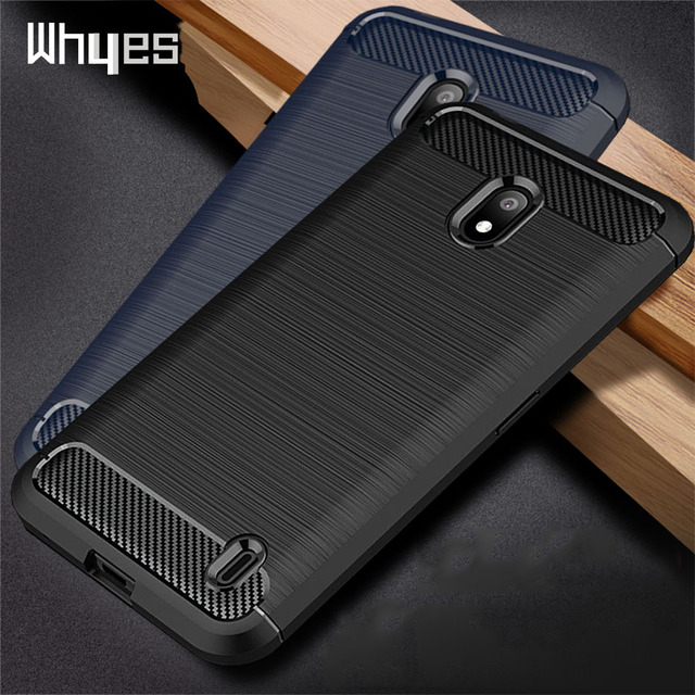 Silicone Case For Nokia 2.2 2 For Nokia 2.1 2V ShockProof Fitted Carbon Fiber TPU Phone Cover For Nokia 2.2 Case